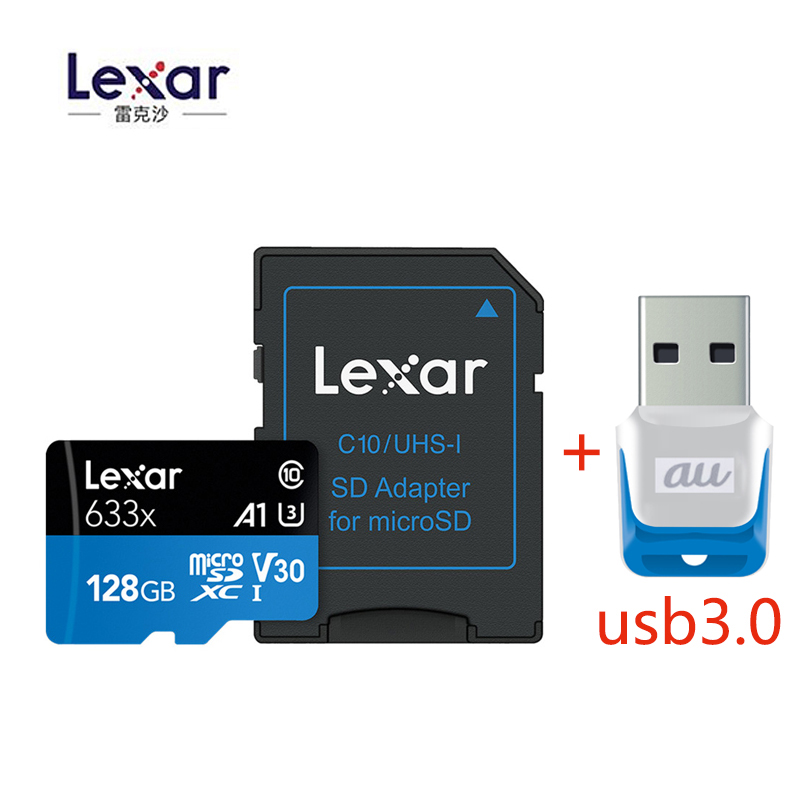 2019 Original Lexar 95mb/s 633x Micro sd card 512GB 64g 128g 256GB Memory Card Reader Uhs-1 For Drone Gopro Dji Sport Camcorder