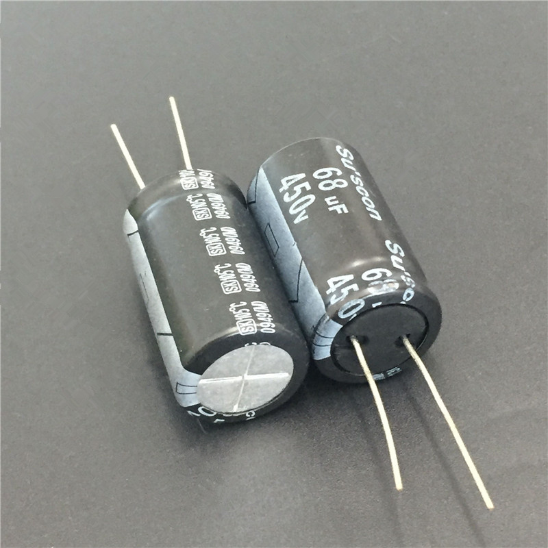 5pcs 68uF 450V Su'scon SK Series 18x31mm 450V68uF Aluminum Electrolytic Capacitor