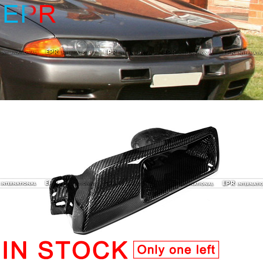 For GTR R32 Skyline GTS Carbon Fiber Vented Headlight Replacement (LHS)For Nissan Glossy Fibre