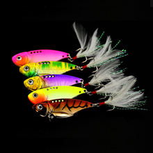 Winter Sea Hard Fishing Lure VIB Bait Diving Vivid Vibrations Spoon Bass Artificial Cicada Jig