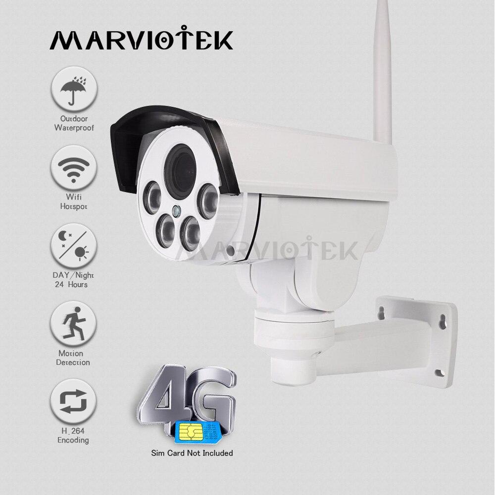 960 P 3G 4G carte SIM caméra IP extérieure PTZ 1080 P HD caméra sans fil 4X Zoom panoramique inclinaison vidéo Surveillance Mini caméra HD IR