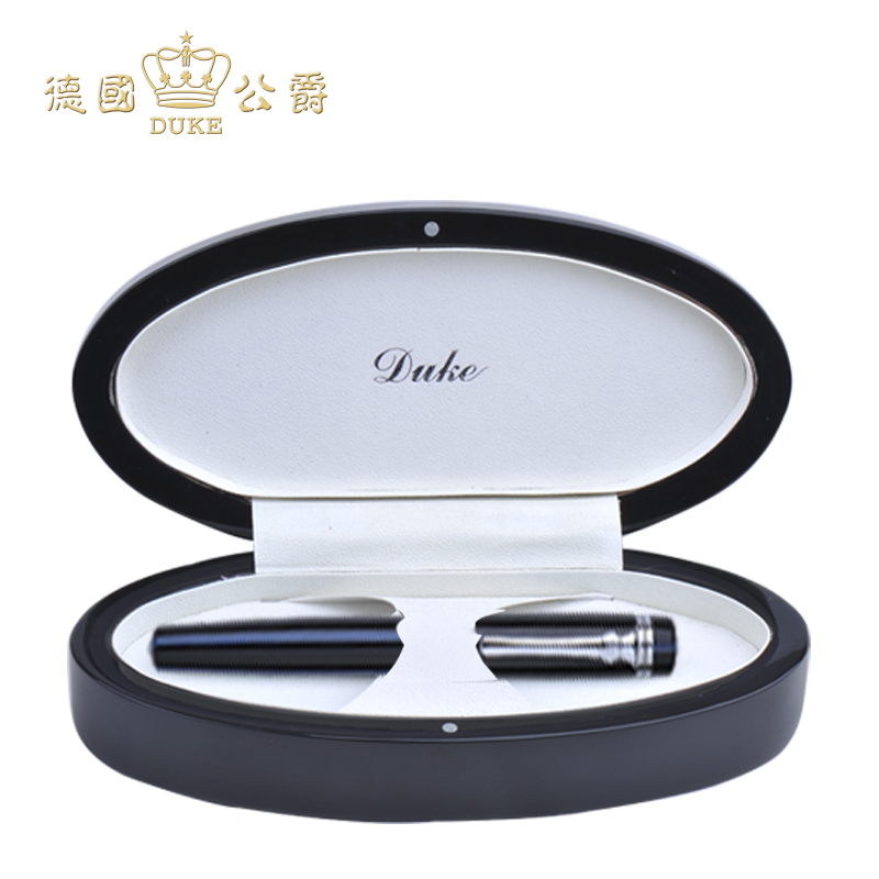 Duke 379 Black-blue Rollerball Pen Black Ink Silver Clip Signature Ballpoint Pen for Business Gift Office and School Supplies turbosound nuq82 black