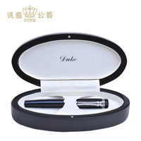 Duke 379 Black blue Rollerball Pen Black Ink Silver Clip Signature Ballpoint Pen for Business Gift Office and School Supplies