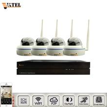 HD Metal Dome wifi IP Camera Kit 8ch 1080p NVR Kit ONVIF p2p  Sony 1080p Surveillance CCTV wifi System