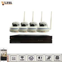 HD de Metal Dome wifi IP Camera Kit 8ch 1080 p NVR Kit ONVIF p2p Sony 1080 p Vigilância CCTV wi-fi sistema