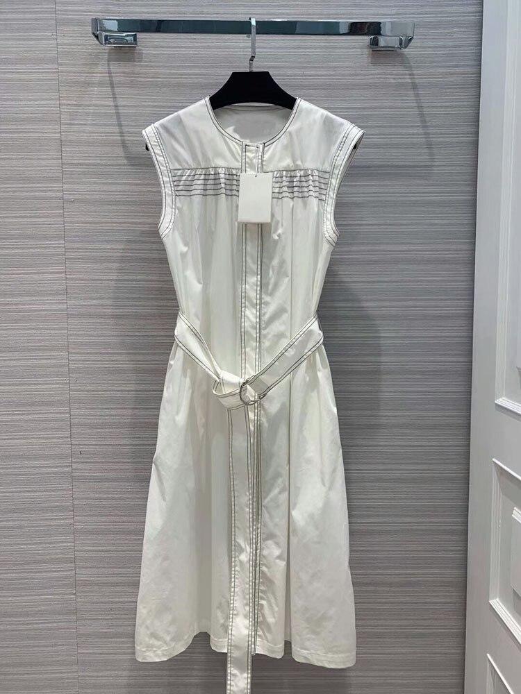 Frauen mode 2019 oansatz sommer sleeveless hülse kleider at190138-in Kleider aus Damenbekleidung bei  Gruppe 1