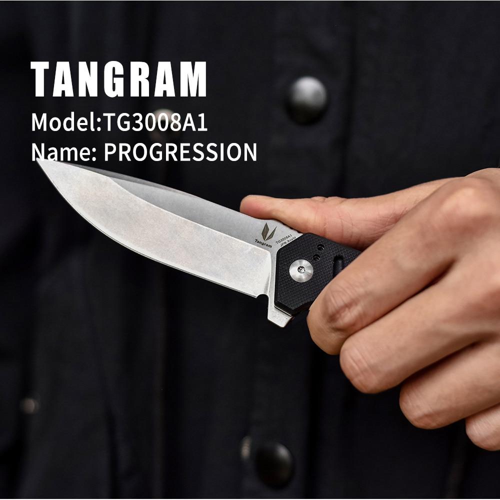 G10 knives outdoor flipper ball folding handle TANGRAM survival bearing pocket TG3008A1 knife knife camping tactical knife