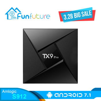 Tanix TX9 Pro Android 7,1 TV caja Amlogic S912 CPU Octa-core Set-top TV Box 3 GB 32G BT4.1 2,4G 5,8G wifi 1000 M LAN Smart TV Box