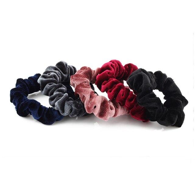 Fashion 2 Pcs Women Hairbands Headbands Hair Scrunchie Scrunchy Hairtie Elastic Ponytail Holder Headwear Accessories