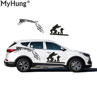 Car Styling For Hyundai Santa Fe Racing Pattern Glue Sticker Fighting Design For Motorcycle Auto Waterproof Reflective Decal