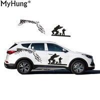Estilo del coche Para Hyundai Santa Fe Racing Patrón Diseño Lucha Para La Motocicleta Auto Impermeable Reflectante Etiqueta del coche Etiqueta Engomada Del Pegamento