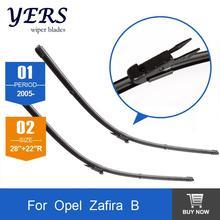 Cuchilla de limpieza para Opel Zafira B (de 2005 en adelante) 28 «+ 22» R ajuste pizca tab tipo wiper armas solamente HY-017