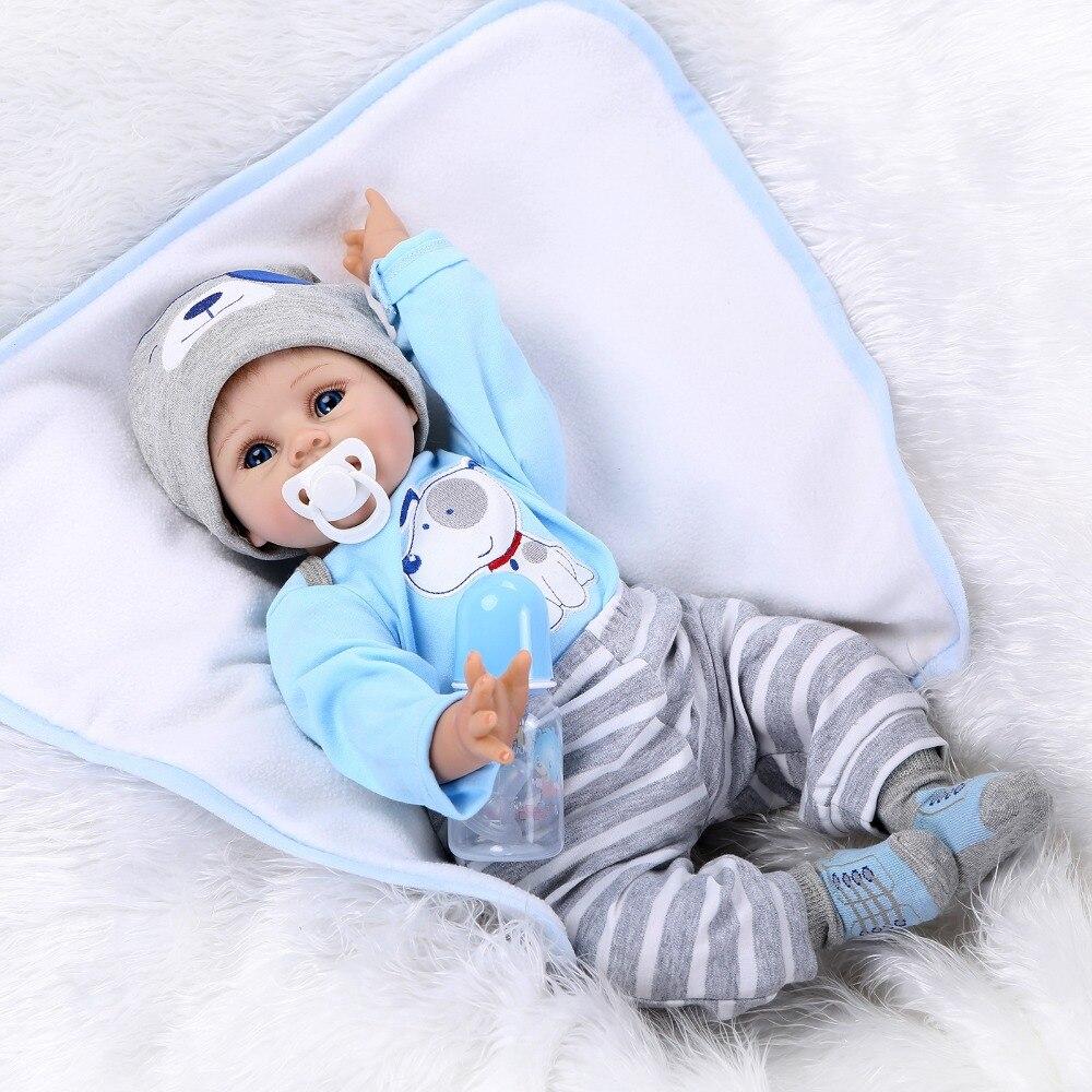 Chaud NPK poupée Reborn 55 CM Silicone souple Reborn bébé poupées vinyle gros bébé poupées avec couverture Bebe Realista poupée jouets cadeau