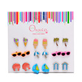 Onnea 9pairs Fashion Assorted Children Stud Earring Cute Summer Style Beach Sea Shell Glasses Earrings Girls Women Friends Gift