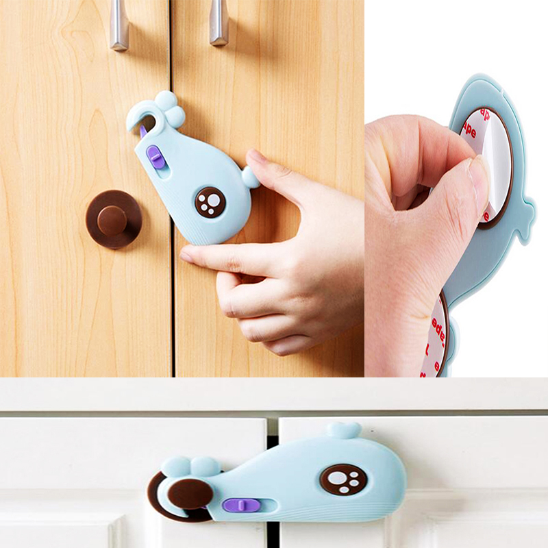 15Pcs/Lot Safety Child Lock Children Security Protection Cabinet Safety Lock  Refrigerator Closet Wardrobe