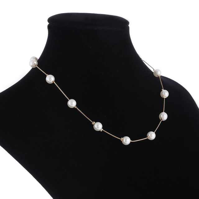 Simulated Pearl Ladies necklace for women 2
