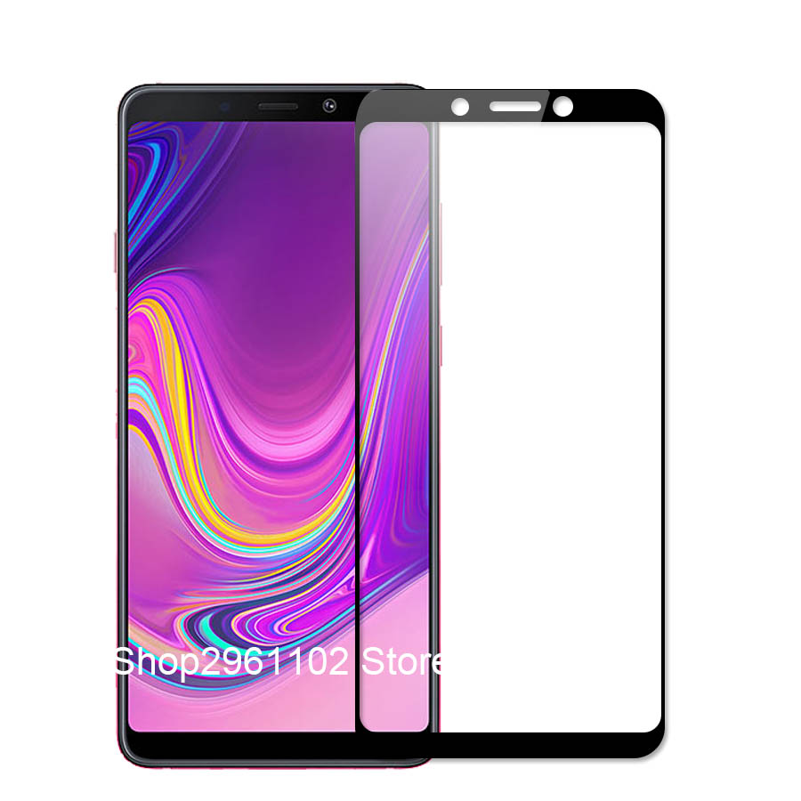 Image 2 - for samsung galaxy a 9 2018 case cover tempered glass for samsung a9 2018 protective glass on the galax a92018 a920 a920f film-in Phone Screen Protectors from Cellphones & Telecommunications