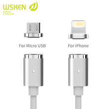 WSKEN Creativity Magnetic cable for iphone and android device.,data cable for smart phoner,for lightning,cable with connector