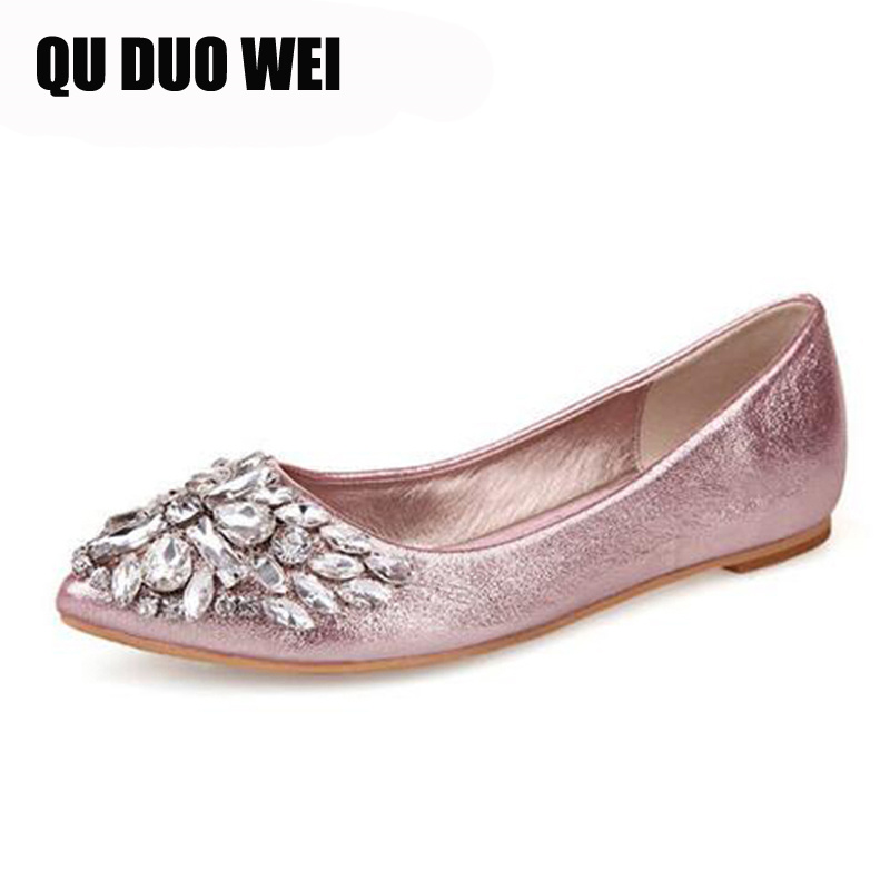 2019 New Women Fashion Flats Bling Vamp Crystal Rhinestone Decoration Women Slip-on Causal Loafers Ladies Mujer Shoes