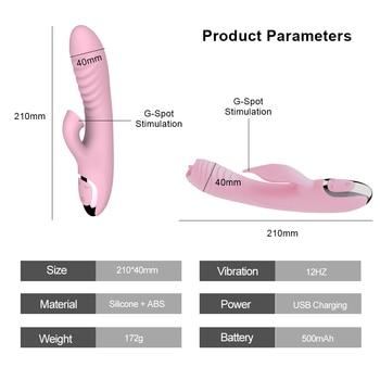 Double penetration AV Vibrator sex toys for woman with nipple clitoris sucker G spot dildo for adult Vaginal masturbator 2