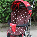 Cotton Baby Stroller Cushion Pad Pram Padding Cushion Cotton Polka Dot Printed Pad Stroller Soft Cushion Striped Liner T0074