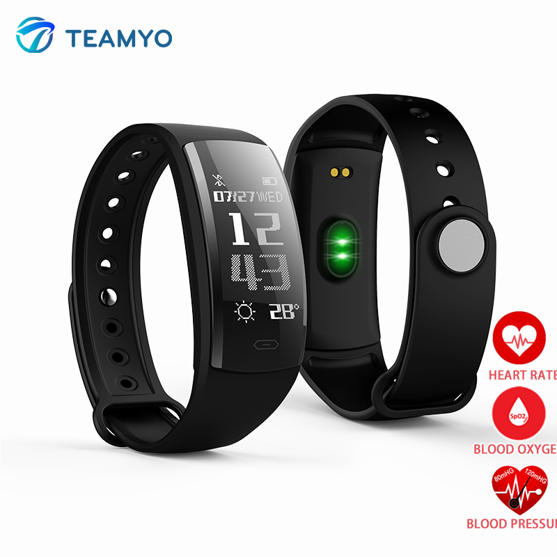 QS90 Smart Wristband Fitness Tracker Bracelet Heart Rate Monitor Blood Oxygen Monitor Waterpfoof Smart band Watch Free shipping