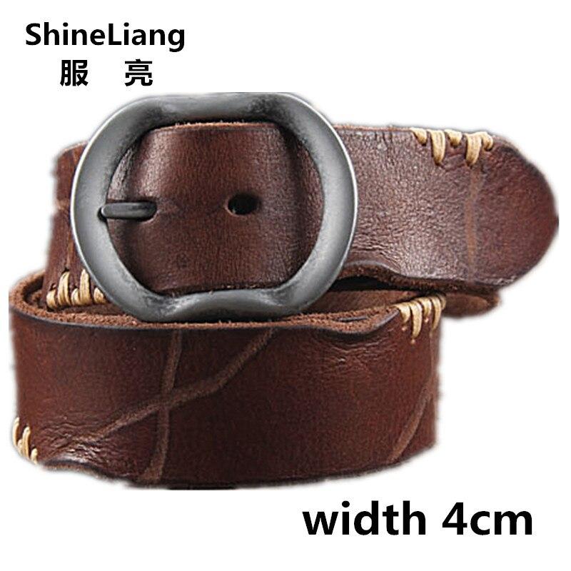 Karstā govs āda īstas ādas jostas vīriešiem zīmola siksna vīriešu tapas sprādze fancy vintage džinsu siksna cintos masculinos ceinture homme
