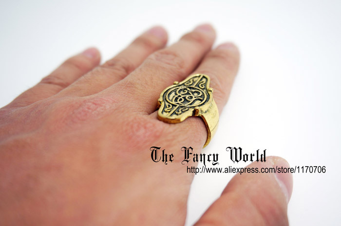 Hobbit jewelry elf lord Elrond Golden Ring LOTR Lord of Rings