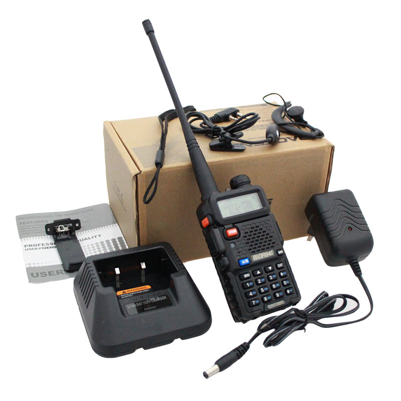 BaoFeng UV-5R Walkie Talkie / Bicycle Bag / Speaker Mic / Antenna / Programming Cable / Earpiece / Case Holder / Charger