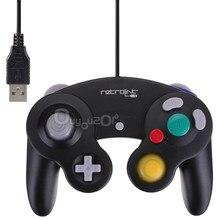 New! Top vente USB filaire contrôleur Joypad Joystick pour Nintendo pour Gamecube pour NGC GC pour PC pour MAC ordinateur Pad noir