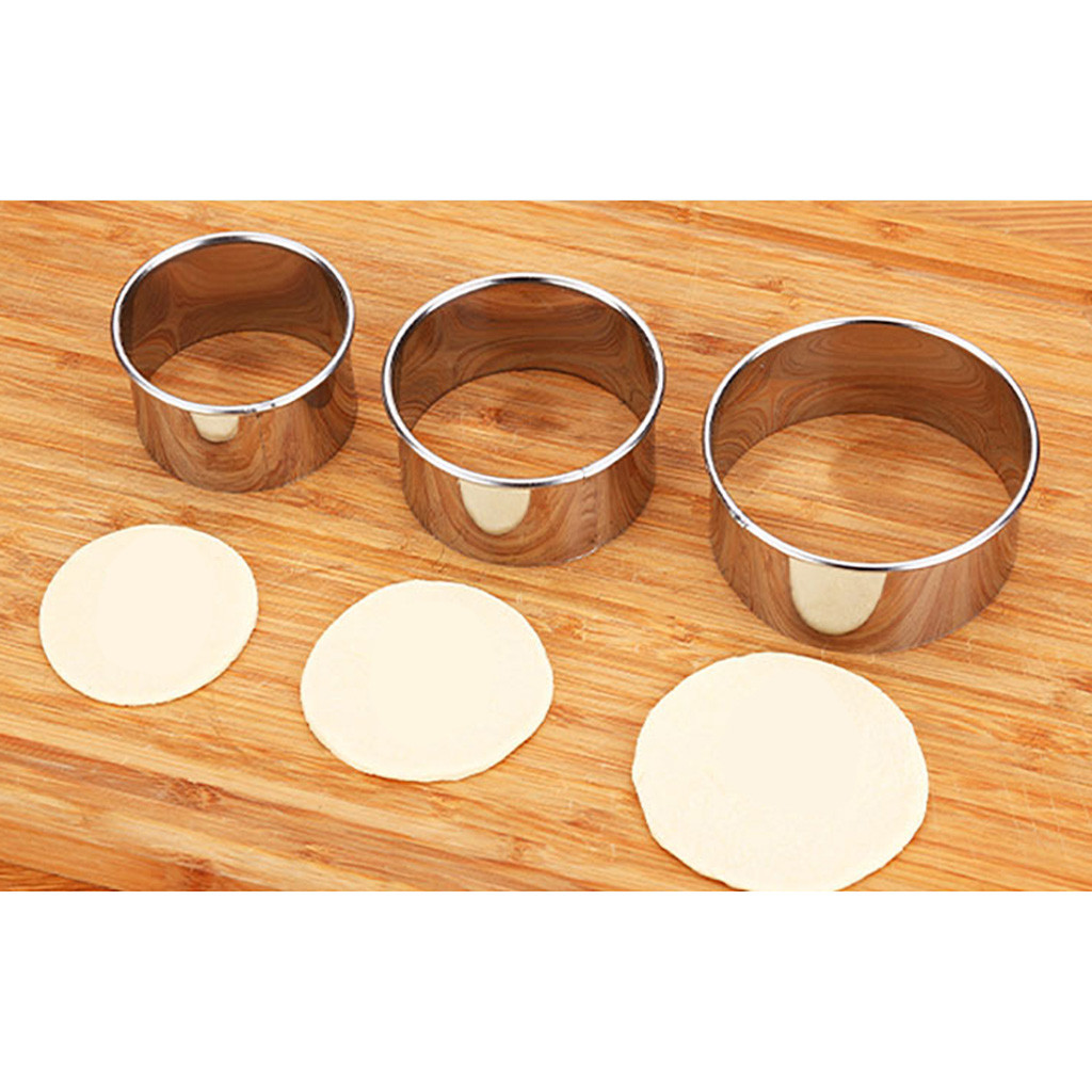 Stainless Steel Round Dumplings Wrappers Molds Set Cutter ...