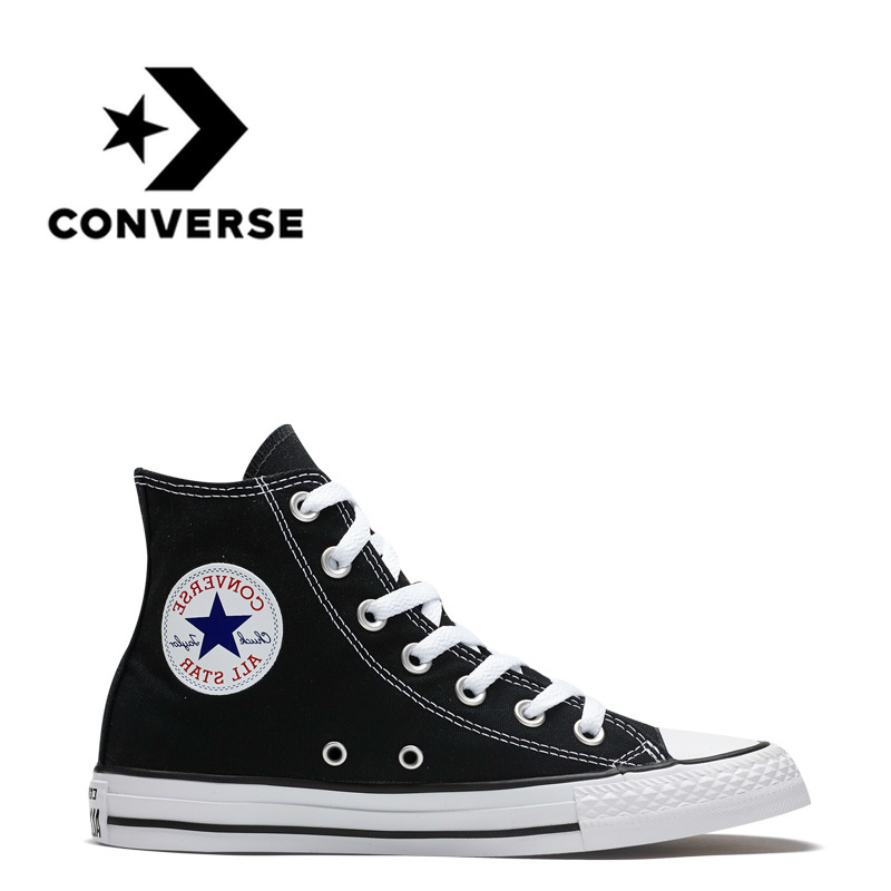 Converse All Star Skateboarding Shoes for Men Women Original Classic Canvas High Top Sneakers Sports Outdoor Shoes Black 102307