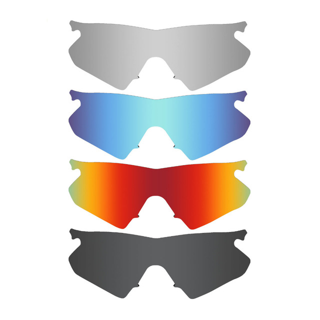 6a4e029537 4 unidades mryok polarizado Objetivos para Oakley M Marcos calentador Gafas  de sol Stealth Black &