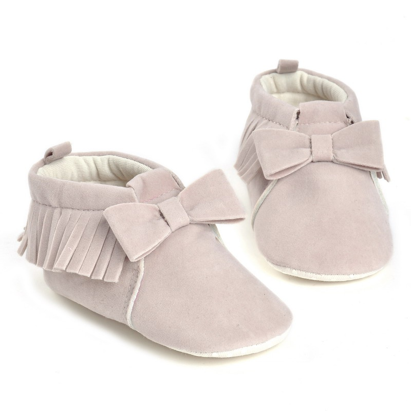 Spring And Autumn New Girl Baby Tassel Multi – Color Baby Shoes Cute Baby Non – Slip Soles Shoes 0-12M