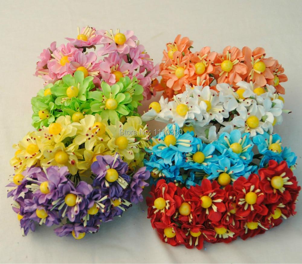 cm artificial flores de papel de seda seda gerbera daisy flores ramos de flores