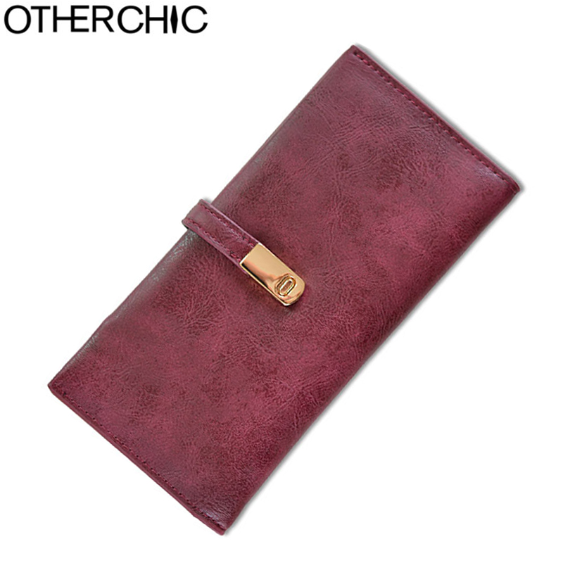 OTHERCHIC Nubuck Leather Women Fashion Wallets Long Slim Wallet Card Holder Stylish Purse Zipper Pocket Female Purses L-7N07-31 new multifunction man wallets 3 colors mens pu leather zipper business wallet card holder pocket purse hot plaid pouch fashion