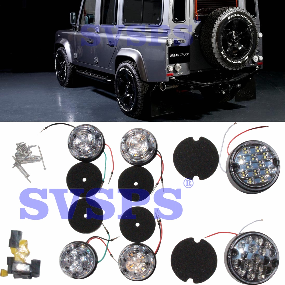 Tuning LED lights Full kit Tail lamps kit Stop Turn signal lights For Land Rover Defender Vehicle Car 90 110 1992-2016 year new style tuning tail lamps high brightly led light bar b w style tail lights stop lights fit for toyota vios 2013 up
