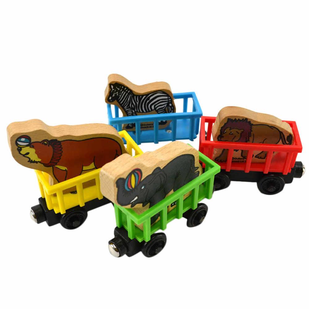 Игрушки для детей Новый персональный мультфильм 1 шт. имя животного деревянный поезд гаджеты Новинка интересные детские забавные игрушки на день рождения