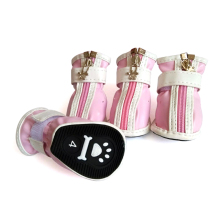 High-quality blue black dog shoes PU leather slip-resistant waterproof boots red large pink small for dogs