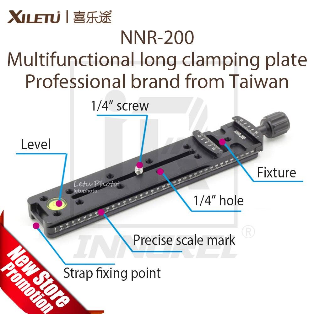 XILETU NNR-200 Multifunctional Lengthen Quick Release Plate 200mm Nodal Slide Mounting Clamp Arca Swiss For DSLR Tripod Ballhead