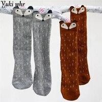 2016 Knee Socks Newborn Baby Boy Baby Fox Baby Socks Cute Cartoon Animal Cat Leg Warmers