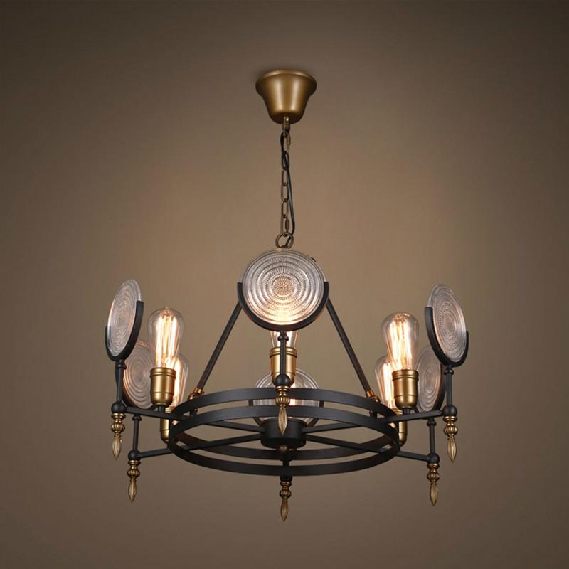 Industrial Retro Glass Chandelier Lighting Vintage Metal Hanging Lamp Round Fixtures For Dinning Room Bedroom Bar Light PL454 моторное масло motul snowpower 2t 1 л