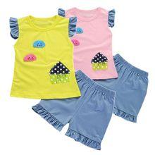 1 шт., детские шорты без рукавов для малышей Комплект из топа, жилета и штанов, комплект однотонной розовой летней одежды, жилет унисекс, Новое поступление