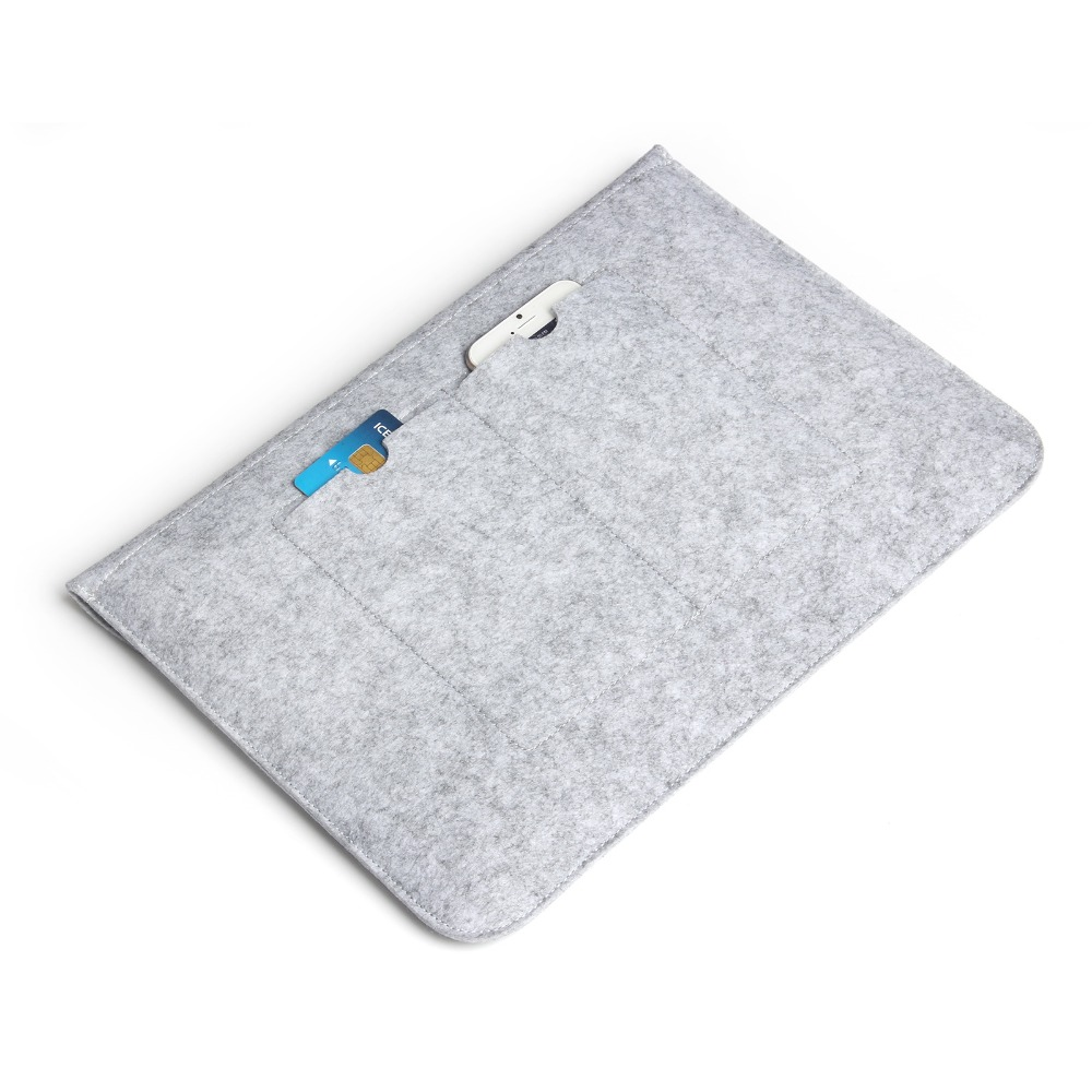 Laptop Sleeve Pouch Bag Voor Apple Macbook (10st) Luxe Retro Grijze - Notebook accessoires - Foto 6
