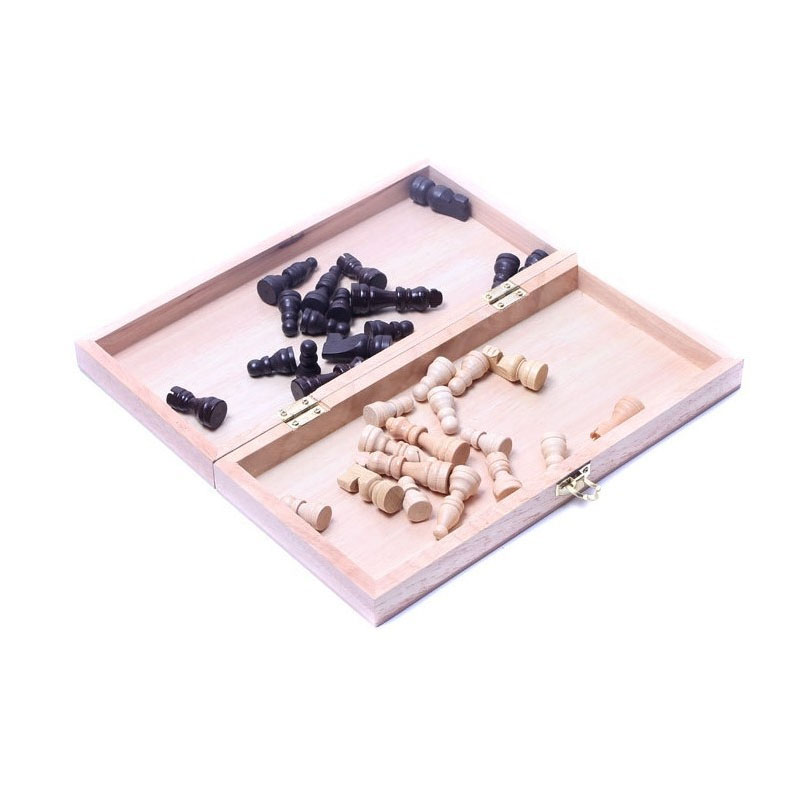 Купить с кэшбэком Hot sale Wooden chess set folding International Chess games chess Board Christmas Gift