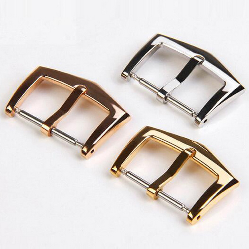18mm High Quality 316L Stainless Steel Watch Band Buckle Strap Silver Folding Clasp Replacement For Patek Philippe Other Watches
