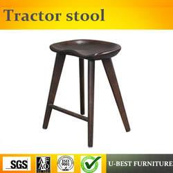 Бесплатная доставка, U-BEST барный стул, тракторное сиденье из твердой древесины, 4 ножных барный стул, новый дизайн, тракторный стул