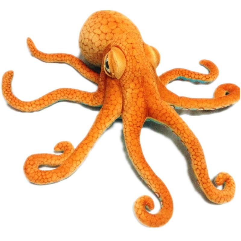 80cm Simulation Plush Squid Octopus Toy Creative Stuffed Lucky Fish Ocean Animal Doll Kids Birthday Gift Home Shop Decor Triver