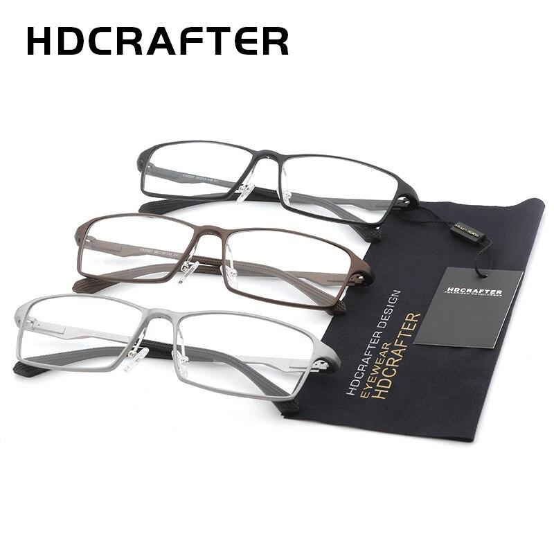 HDCRAFTER 150mm titane cadre optique recette lunettes de Prescription hommes dioptrie myopie hyperopie lunettes photochromiques lunettes - 5
