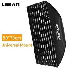 """Godox 50x70 см/2"""" x 27"""" Honeycomb софтбокс с решеткой с универсальным креплением для K-150A K-180A E250 E300 300SDI стробоскопическая вспышка для фото студий"""